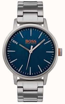 Hugo Boss Orange Мужской копенгаген смотреть синий циферблат 1550058