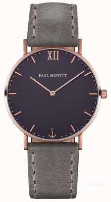 Paul Hewitt Мужской кожаный ремешок из серого моря PH-SA-R-ST-B-13M