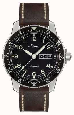 Sinn 104 st sa классический пилот-часы темно-коричневой винтажной кожи 104.011-BL50202002007125401A