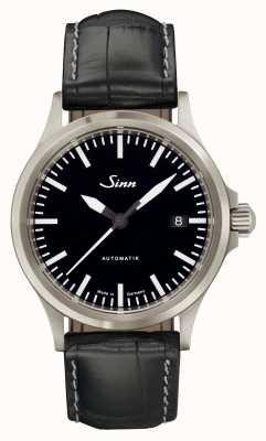 Sinn 556 i спортивное сапфировое стекло черного аллигатора с тиснением кожи 556.010-BL44201851001225403A