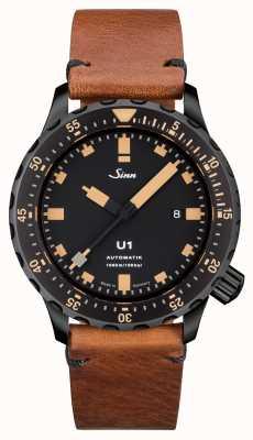 Sinn U1 se u-boat сталь старинная коричневая кожа v-stitch 1010.023