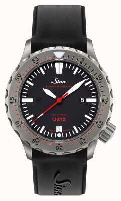 Sinn U212 ezm 16 таймер миссии u-лодка стальной черный силиконовый ремешок 212.040