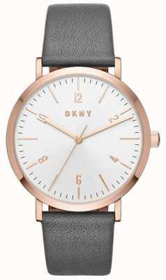 DKNY Женские миниатюрные серые кожаные часы NY2652