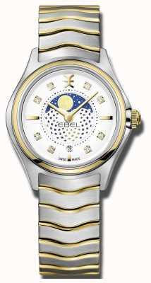 EBEL Женская волна алмаза установила две тональные лунные часы 1216373