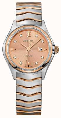 EBEL Женская волна алмаза установила двухцветные розовые часы 1216328