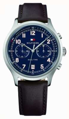 Tommy Hilfiger Мужские кожаные ремешки для часов emerson 1791385