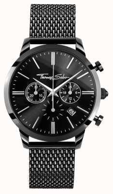 Thomas Sabo Мужские черные хромированные часы из нержавеющей стали WA0291-287-203-42