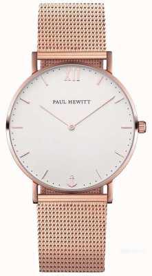 """Paul Hewitt Браслет из сетки из розового золота 19 """" PH-SA-R-ST-W-4M"""