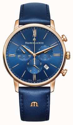 Maurice Lacroix Хронограф Eliros синие и золотые часы EL1098-PVP01-411-1