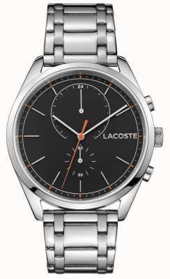 Lacoste Mens san diego нержавеющая сталь черный циферблат 2010918