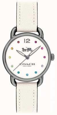 Coach Женщин delancey смотреть белый кожаный ремешок 14502915