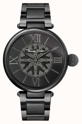 Thomas Sabo Женщины карма черный ip стальные часы WA0307-202-203-38