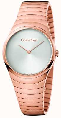 Calvin Klein Женщин розового золота тон нержавеющей стали вихревые часы K8A23646