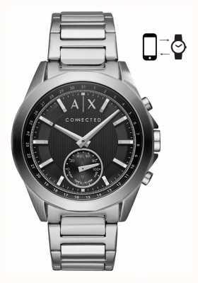 Armani Exchange Мужские гибридные смарт-часы из нержавеющей стали браслет черный циферблат AXT1006