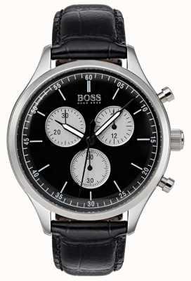 Hugo Boss Мужской сопутствующий хронограф смотреть черный 1513543