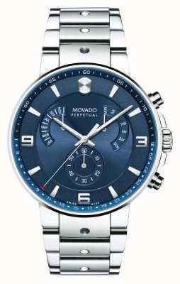 Movado Мужская модель пилотного ретроградного синего циферблата 0607129