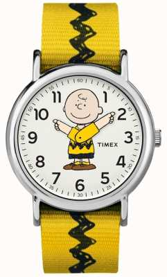 Timex Желтый ремешок из желтого ореха TW2R411006B