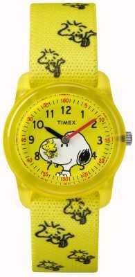 Timex Молодежный аналог желтый ремешок дровосек snoopy TW2R41500JE
