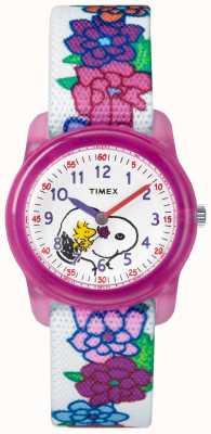 Timex Молодой аналог белый ремешок snoopy flowers TW2R41700JE