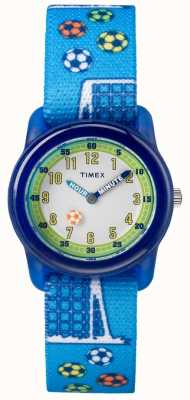 Timex Молодежный аналог синий ремень футбол TW7C165004E