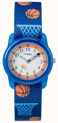 Timex Молодежный аналог синего ремешка баскетбол TW7C168004E