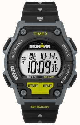 Timex Мужчины выдерживают шок 30 lp черный и известь TW5M13800D7PF