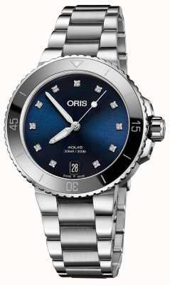 ORIS Женские часы aquis из стали с бриллиантами 01 733 7731 4195-07 8 18 05P
