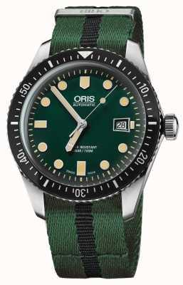 Oris Мужчины, ныряющие в шестьдесят пять зеленых планок nato 01 733 7720 4057-07 5 21 25FC