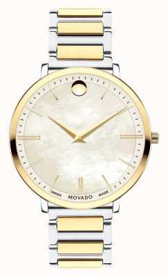 Movado Женские ультратонкие двухцветные часы 0607171