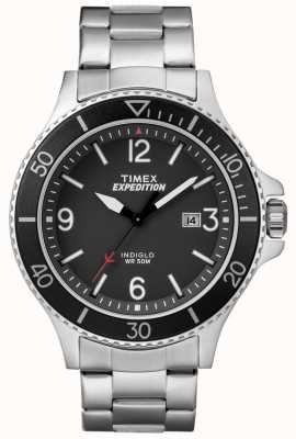 Timex Мужская экспедиция рейнджер металлический браслет черный циферблат TW4B10900