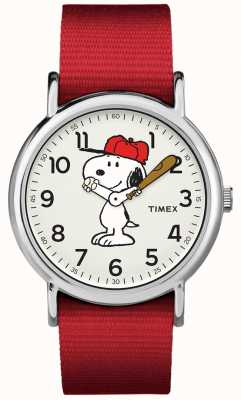 Timex Красный ремешок snoopy watch TW2R414006B