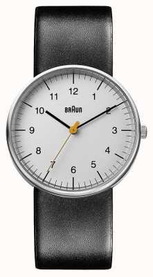 Braun Мужские черные кожаные часы BN0021BKG