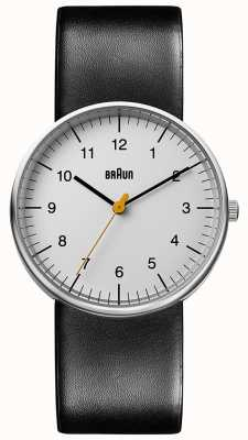 Braun Часы унисекс черные кожаные BN0021BKG