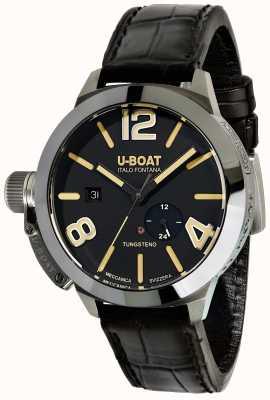 U-Boat Stratos 45 bk автоматический черный кожаный ремешок 9006