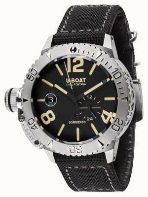 U-Boat Sommerso 46 BK автоматический черный резиновый / нейлоновый ремешок 9007