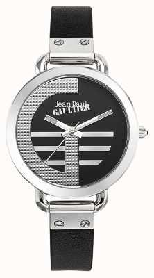 Jean Paul Gaultier Женщин индекс g черный кожаный ремешок черный циферблат JP8504315