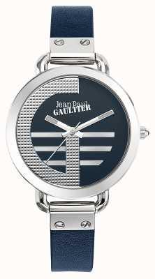 Jean Paul Gaultier Женщин индекс g синий кожаный ремешок синий циферблат JP8504324