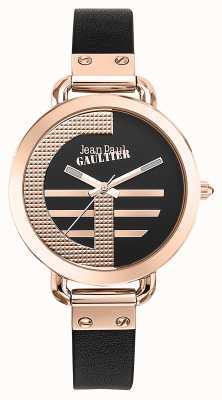 Jean Paul Gaultier Женщин индекс g коричневый кожаный ремешок черный циферблат JP8504325
