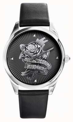 Jean Paul Gaultier Черное циферблат темно-коричневого черного татуировки JP8502412