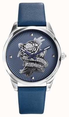 Jean Paul Gaultier Синий кожаный ремешок синего цвета татуировки JP8502413