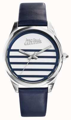 Jean Paul Gaultier Синий кожаный ремешок белого цвета JP8502409
