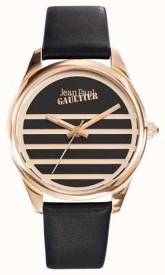Jean Paul Gaultier Черный черный кожаный ремешок JP8502410