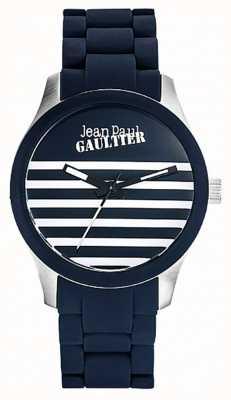 Jean Paul Gaultier Enfants ужасный синий резиновый стальной браслет JP8501118