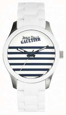 Jean Paul Gaultier Enfants terribles белый резиновый стальной браслет белый циферблат JP8501120