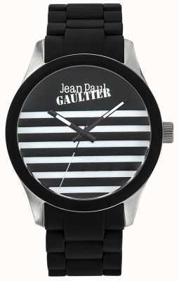 Jean Paul Gaultier Enfants terribles черный резиновый стальной браслет черный циферблат JP8501121