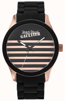 Jean Paul Gaultier Enfants terribles черный резиновый стальной браслет черный циферблат JP8501122