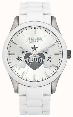 Jean Paul Gaultier Enfants terribles белый резиновый стальной браслет белый циферблат JP8501123