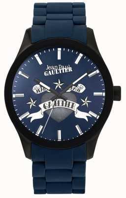 Jean Paul Gaultier Enfants terribles синий резиновый стальной браслет синий циферблат JP8501124