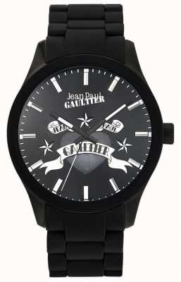 Jean Paul Gaultier Enfants terribles черный резиновый браслет черный циферблат JP8501125