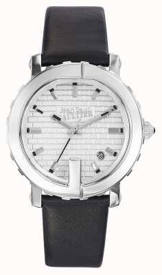 Jean Paul Gaultier Женская точка g черный кожаный ремешок серебристый циферблат JP8500515